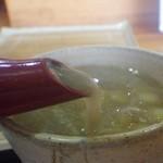 手打ちそば処 松葉 - 蕎麦湯