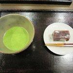 3652482 - 抹茶セット(山政小山園 式部の昔・お菓子付)600円