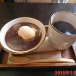 嬌菴 - わらびもちしるこ\230 と ホットコーヒー\120