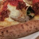 36521241 - 「パルミジャーナ ディ ロート」Sサイズ+にんにくトッピング                        (蓮根・ミートソース・リコッタチーズ・モッツァレッラ)