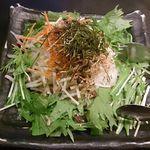 いろはにほへと - 水菜と梅じゃこの大根サラダ 499円