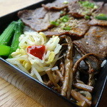 李家むっとり - 牛カルビ弁当の副菜部分