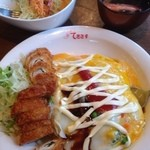 てきさす - 野菜玉子カレー+テキサスロール