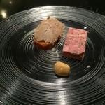 36524146 - 豚のリエット、肉にテリーヌ
