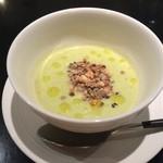 36524148 - グリーンピースのスープ