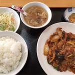 福園 - 鶏の四川風炒めセット