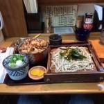 そば処 唯 - 天丼&ざるセット