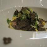 36526617 - タリアッテレ 春野菜のクレーマ 黒トリュフ添え