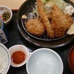 山かつ - あじミックス定食¥1150