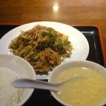 帝里加 - チンジャオロースー定食