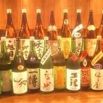 Dining TABI - 月に2回ほど入れ替える日本酒メニュー
