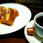 渋谷珈琲研究所 - ブレンド&フレンチトースト(メープル)