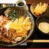 うどん上々 - 料理写真:佐賀牛 肉温玉ぶっかけ + 鶏天トッピング