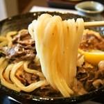 36567687 - 佐賀牛 肉温玉ぶっかけ(うどん)