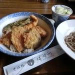 はせ川 - 料理写真:イカと野菜の天丼そばセット