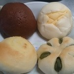 クープ バゲット - チョコスイートブール&ホワイトチョコカスタード&スイートポテトパン&抹茶あんぱん☆(2015年4月)