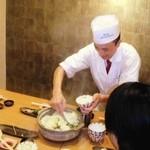 京ごはんふわっとふわっと - 季節の炊きたて土鍋ご飯(要予約)は、店主自らお客様のお席でおつぎいたします!