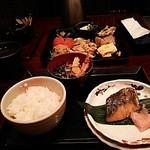 36569455 - メイン「本日の魚料理」の「サワラの袖庵焼(ゆうあんやき)」です。