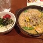 ガスト - 海老とたっぷり野菜のちゃんぽん 明太子ご飯セット