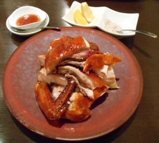 新中国料理 HARAKAWA - 特選料理 ひな鶏の丸焼き(半身)