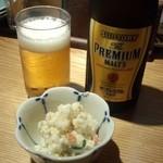 36578007 - 中瓶ビール+お通し
