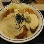 かつや - 鱈カツ 涼風豆腐ダレのアップ(2014.08)