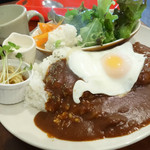 カフェ kiki - 料理写真:2014年2月 本日の気まぐれランチ(ロコモコプレート)【800円】