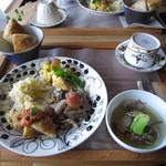 カフェあんこ坂 - 料理写真:本日のパンランチ