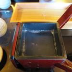 藤かけ - 蕎麦湯