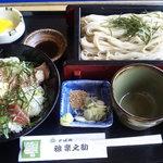雅楽之助 - ランチ~蕎麦定食(マグロ丼)