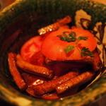 36590376 - 冷やしトマト揚げベーコンのバルサミコ酢風味\700-