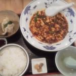 36593191 - ランチ 陳麻婆豆腐セット (水餃子:黒酢タレ)