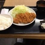 36594038 - 700円ロースかつ定食。ご飯お味噌汁おかわりOK!!