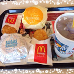 マクドナルド - 料理写真:モーニングいただきま〜す♡