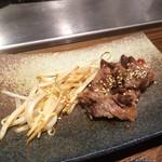 蘭麻 - 夜、中落ちステーキ1800円(税別)焼き肉ですね