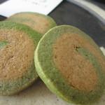 WILL cafe - 抹茶ときな粉のクッキー