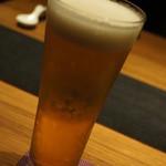はせ茂 - 生ビール=2015年3月