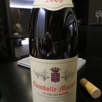 天雅 - 次はブルゴーニュの赤ワインで天ぷらを。フレッシュな渋みが印象的。