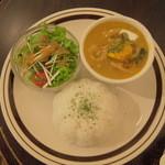 金魚CAFE - 白いカレーと迷ったけどカボチャカレーにしてよかった*すごく美味しかった