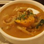 金魚CAFE - カボチャカレー*甘めで美味しかった~!!