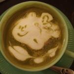 金魚CAFE - 待ってました(´∀`)金魚の抹茶ラテ***ゆるキャラな表情がGOOD!!
