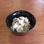 ドライブステイみやま - ミニ山菜めし、お好きな麺とセットで