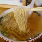 丸竹食堂 - そばは、極細・・