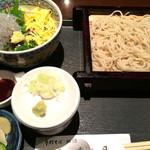 杉並 まん月 - 静岡由比・漁師直送・生しらす丼セット(1000円)