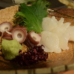 喜多郎寿し - 明石のタコのぶつ切りである。