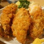大衆割烹 三州屋 - カキフライ定食(1400円)