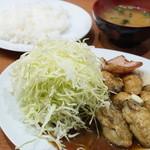 キッチン たか - カキバター定食(1150円)