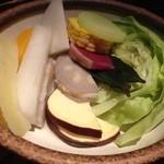 和酒と和談 かこみ料理 醍庵 - 十種野菜の籠盛りせいろ蒸し