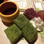 和酒と和談 かこみ料理 醍庵 - <犀川コース>抹茶わらび餅