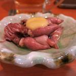 ひら川 - お通し ホタルイカ酢味噌